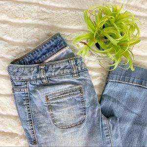 LOFT Denim Modern Flare Jeans sz 0P